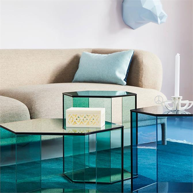 Accent Hexagon Small High Coffee Table Grey Float