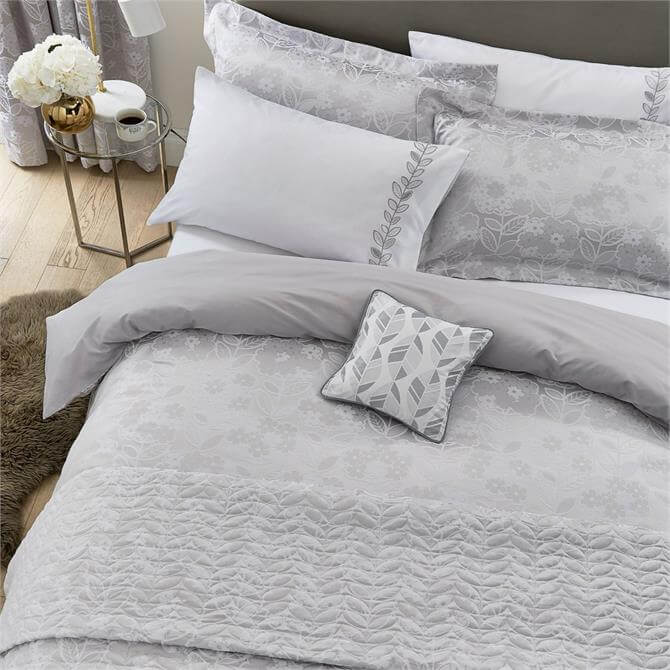 Helena Springfield White/Silver Petal Duvet Cover