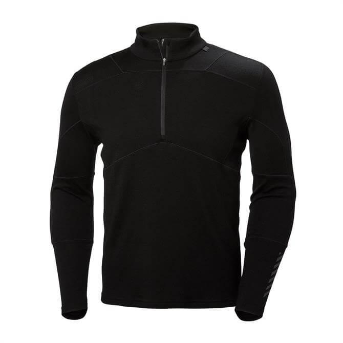Helly Hansen Men's Classic Lifa Merino 1/2 Zip Base Layer Top- Black