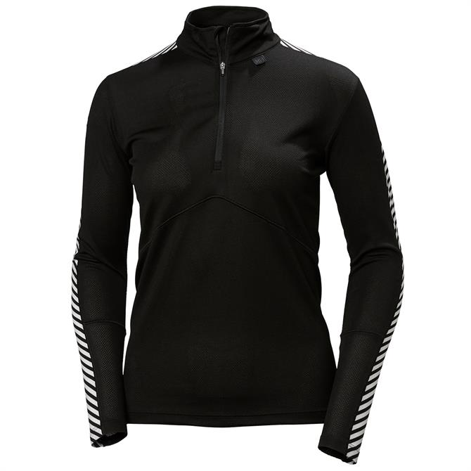 Helly Hansen Womens Active Lifa Half Zip Long Sleeve Black