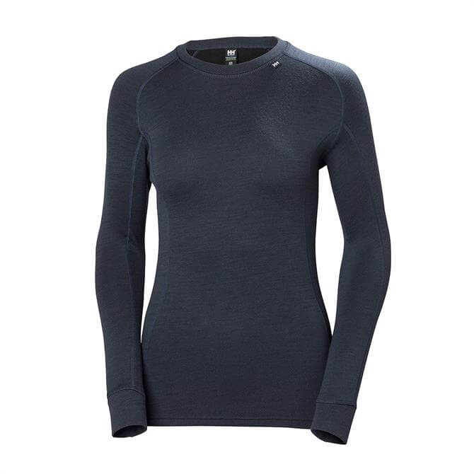 Helly Hansen Women's Lifa Merino Ski Base Layer Top- Graphite Blue