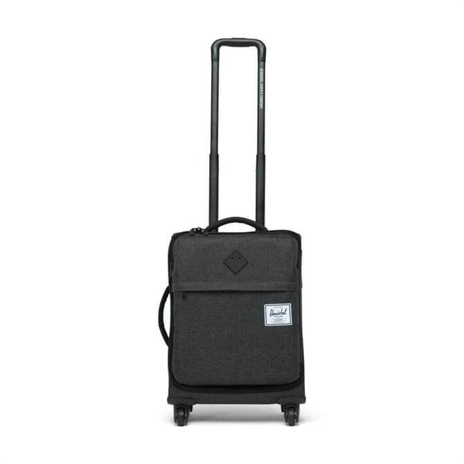 Herschel Highland Carry On Wheeled Holdall - Black Crosshatch