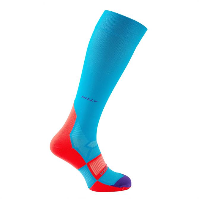 Hilly Women's Pulse Compression Socks- Teal