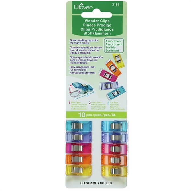 Groves Multi Colour Wonder Clips: 10 Pack