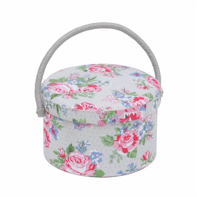 Round Rose Sewing Box