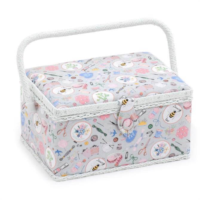 Decorative Medium Rectangle Sewing Box