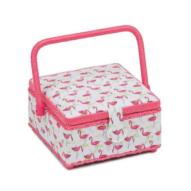 Flamingo Flock Square Sewing Box
