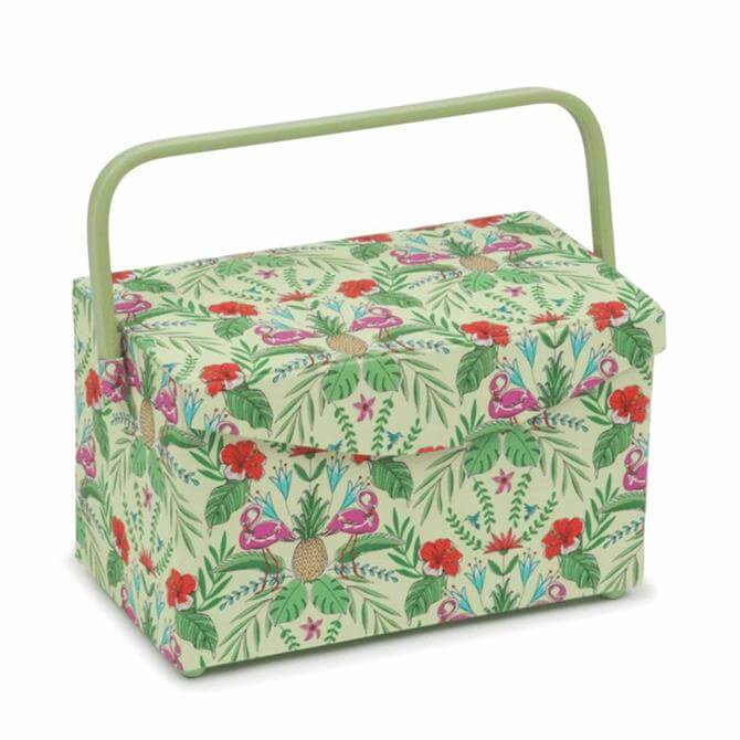 Tropical Lime Fold Over Lid Sewing Box