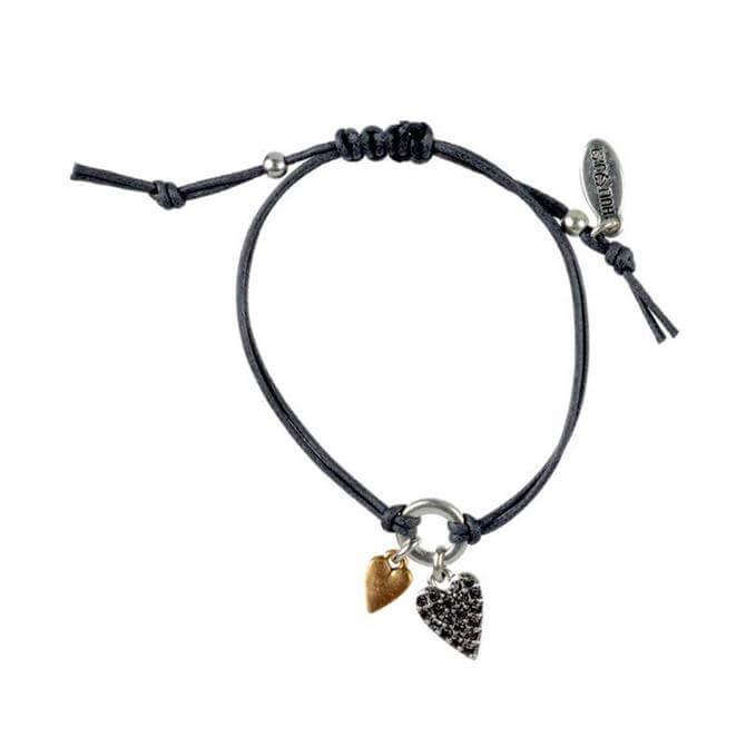Hultquist Double Heart Charm Bracelet
