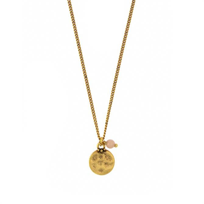 Hultquist Coral Coin Necklace
