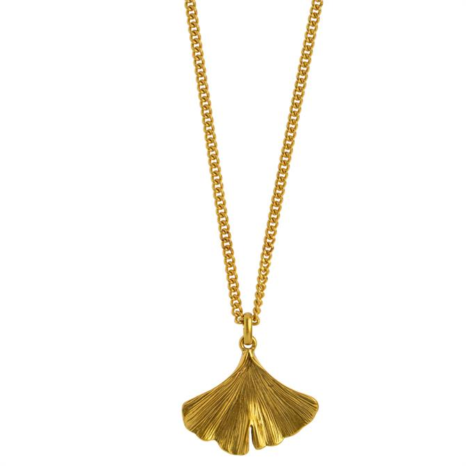 Hultquist Ginkgo Gold Necklace