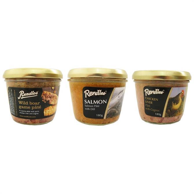 Rendles Pate Selection Chicken, Boar & Salmon