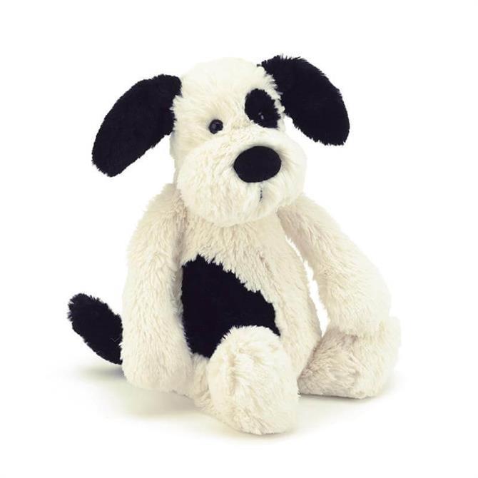 Jellycat Bashful Black and Cream Puppy Medium