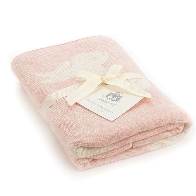 Jellycat Bashful Bunny Blanket Pink