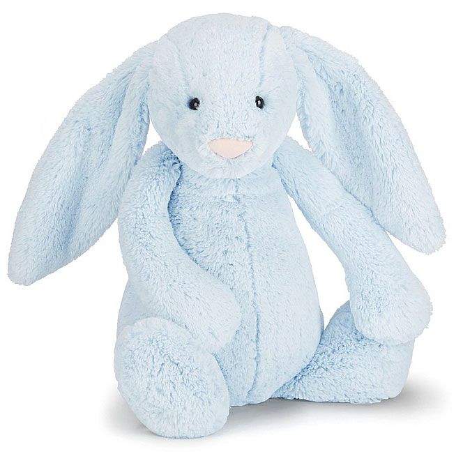 An image of Jellycat Bashful Blue Bunny Huge - BLUE
