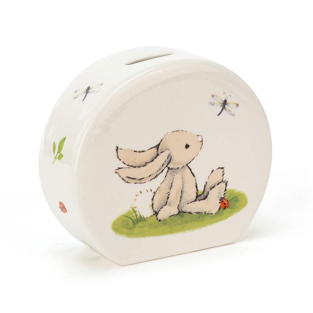An image of Jellycat Bashful Bunny Money Box