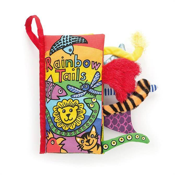 Jellycat Tails Rainbow Baby Book