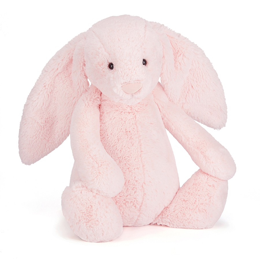 An image of Jellycat Bashful Pink Bunny Huge - PINK
