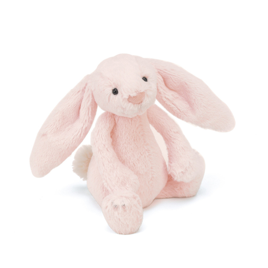 An image of Jellycat Bashful Pink Bunny Rattle