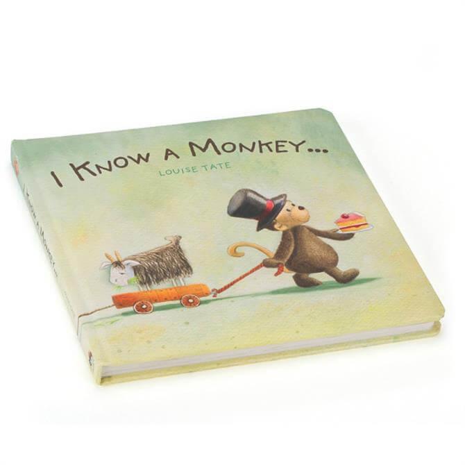 Jellycat I Know a Monkey Book