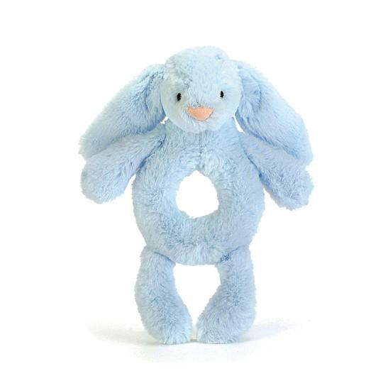 An image of Jellycat Bashful Blue Bunny Grabber