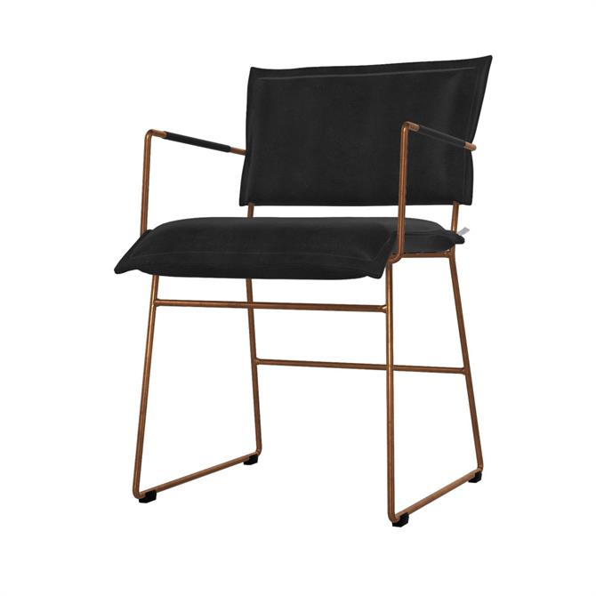 Karlek Carver Dining Chair With Arms In Grade 3 Leather