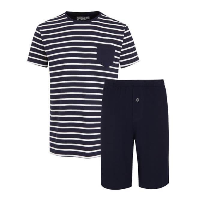 Jockey Everyday Nautical Stripe 1/2 Knit Short Pyjama