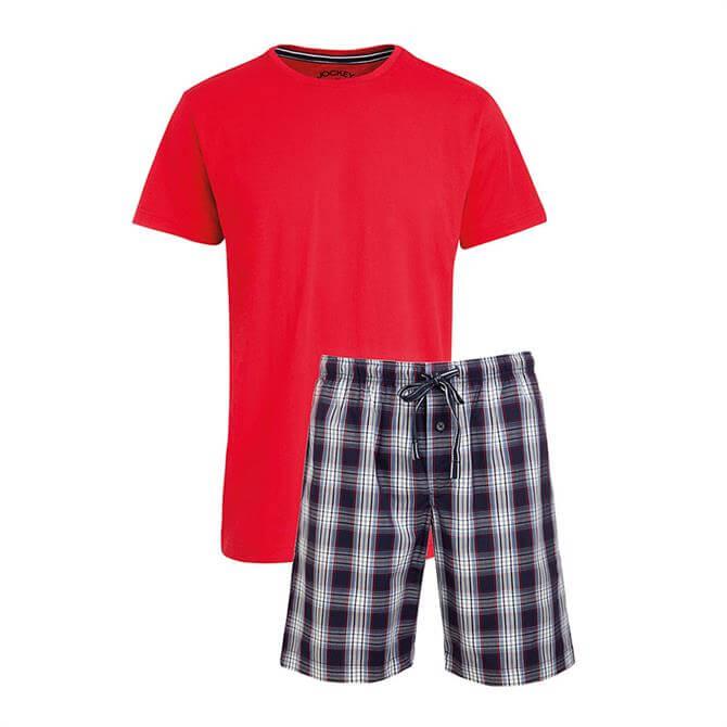 Jockey Checked Pyjama Short Set