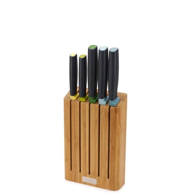 Joseph Joseph Elevate™ 5 Piece Knife Set with Bamboo Block