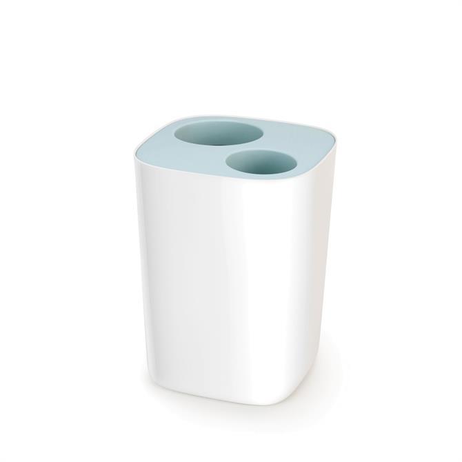 Joseph Joseph Split™ Blue & White Bathroom Waste Separation Bin