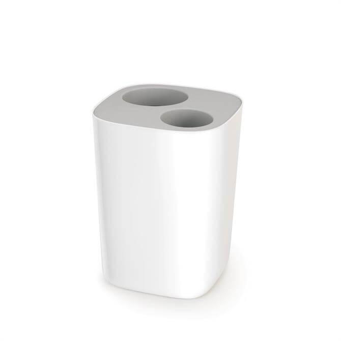 Joseph Joseph Split™ Grey & White Bathroom Waste Separation Bin