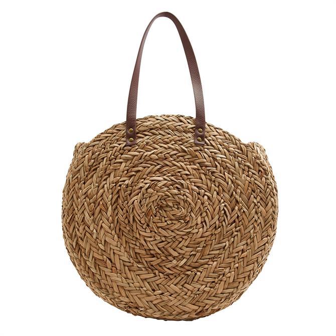 Joules Modena Round Sea Grass Summer Bag