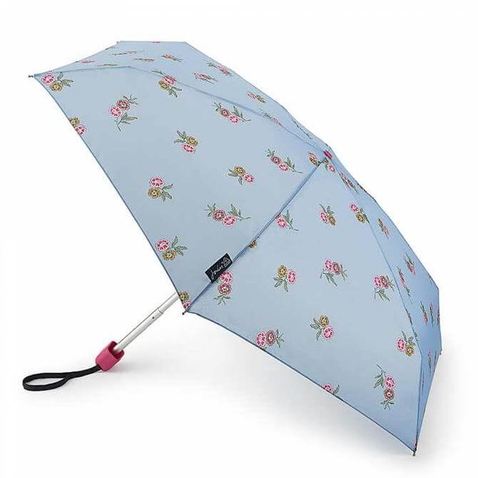 Joules by Fulton Chinoise Blossoms Frozen Blue Tiny-2 Umbrella