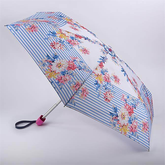 Joules by Fulton Tiny-2 Whistable Floral Stripe Umbrella