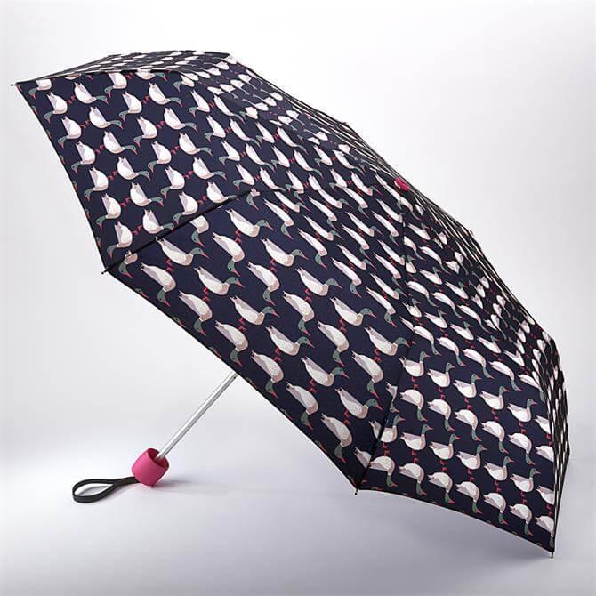 Joules by Fulton Minilite-2 Mallard Geo Umbrella