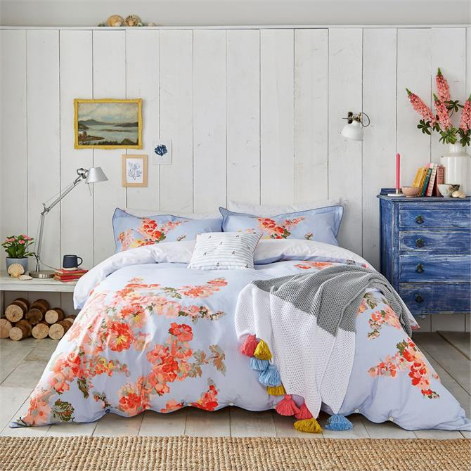Joules Hollyhock Floral Duvet Cover