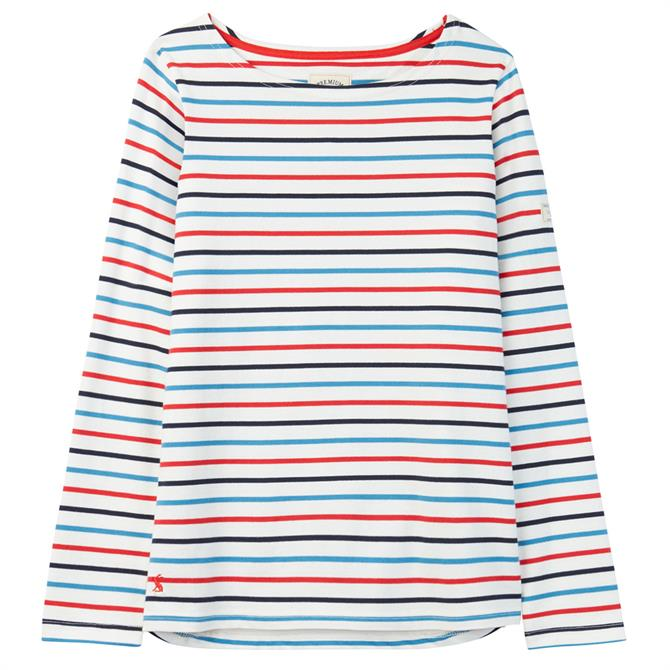 Joules Harbour Long Sleeved Striped Jersey Top
