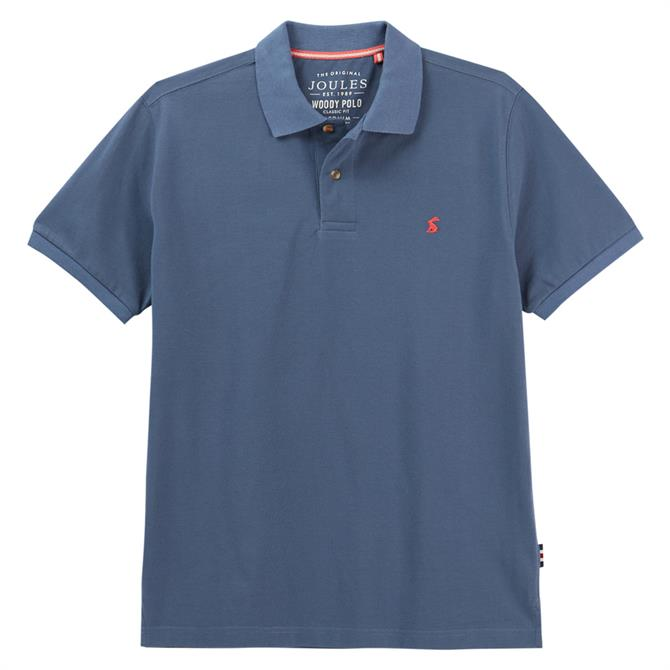 Joules Woody Classic Fit Contrast Under Collar Polo Shirt