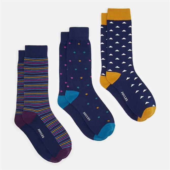 Joules Socks & Shares 3pk Socks