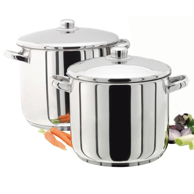 Judge Polished Stainless Steel Lidded Stockpot