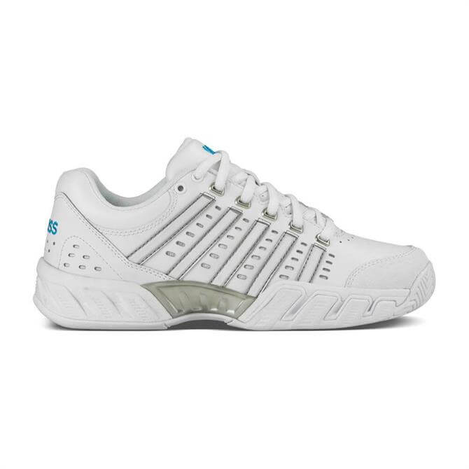 K-Swiss Women's Bigshot Light Leather Tennis Shoe - White Hawaiian