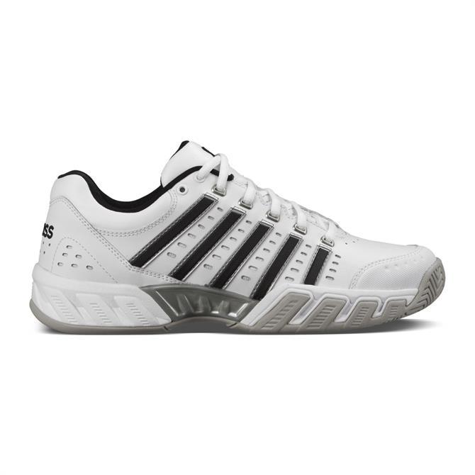 K-Swiss Men's Bigshot Light Leather Tennis Shoe - White/Black