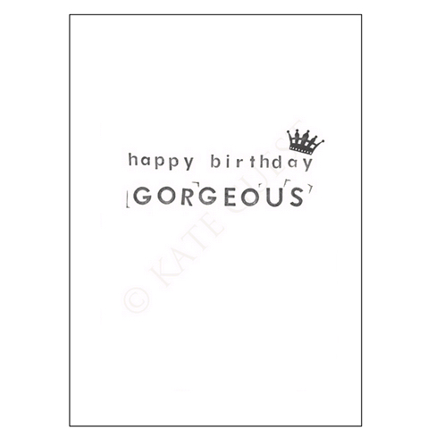 An image of Kate Guest Happy Birthday Gorgeous Card