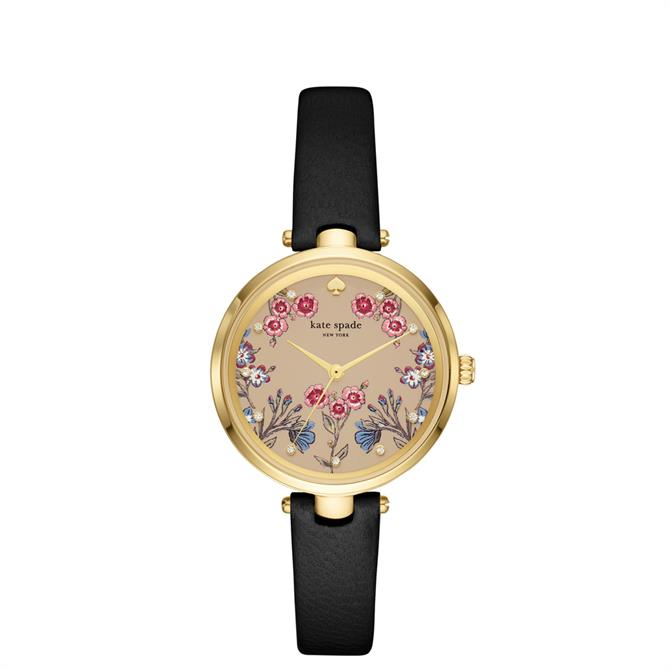Kate Spade New York Holland Black Leather Watch