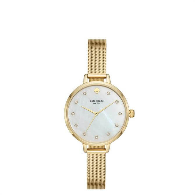 Kate Spade New York Metro Gold Tone Stainless Steel Mesh Watch