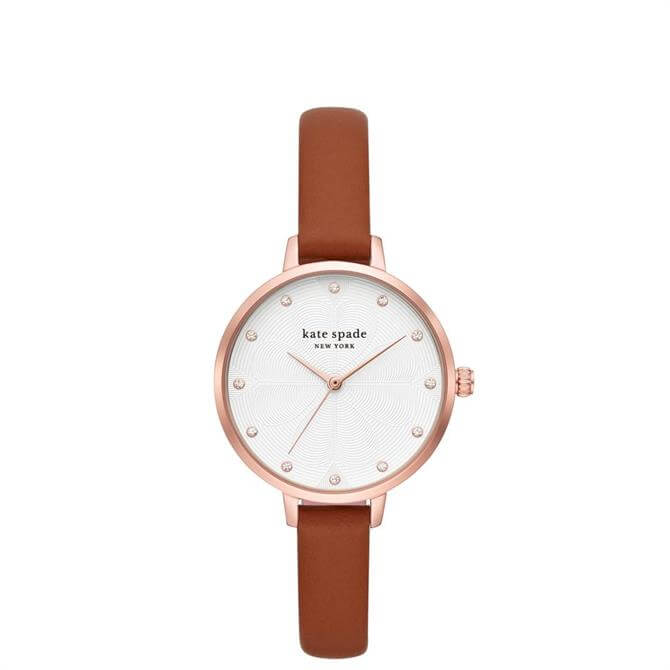 Kate Spade New York Metro Luggage Brown Leather Watch