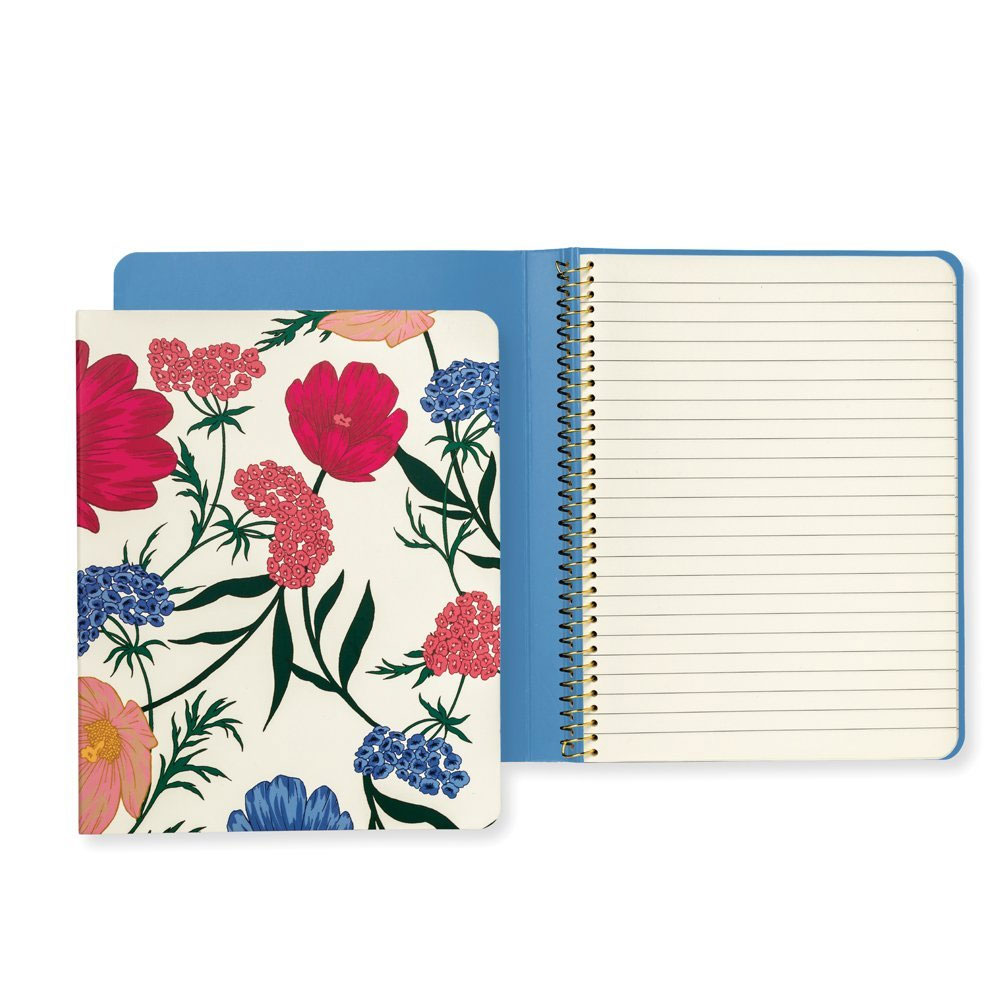 An image of Kate Spade New York Concealed Spiral Notebook - BLOSSOM