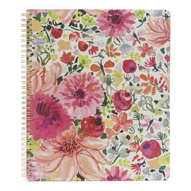 Kate Spade Dahlia Large Spiral Notebook