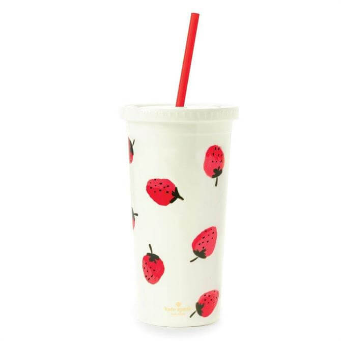 Kate Spade Tumbler With Staw Cup