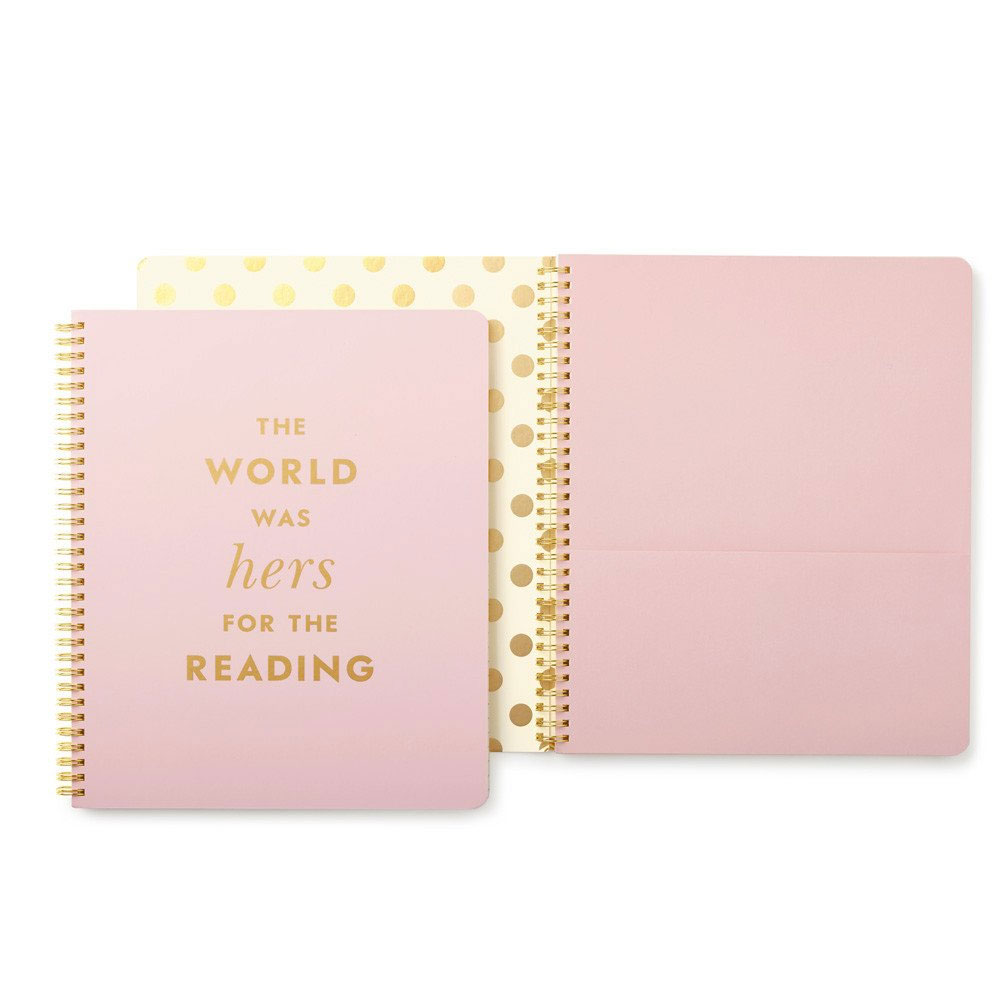 An image of Kate Spade New York Lined Notebook - HERS FOR THE READING